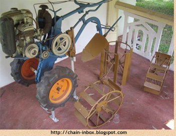 Ray Wijewardene's invention, the world's first two-wheeler tractor